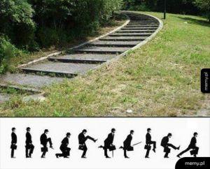 Kiedy schody są za bardzo od siebie oddalone