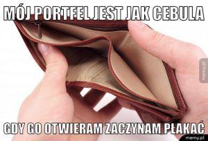 Mój portfel jest jak cebula
