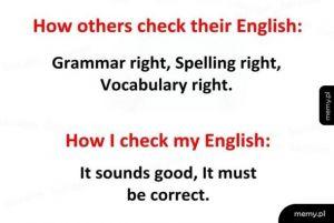 Check your English