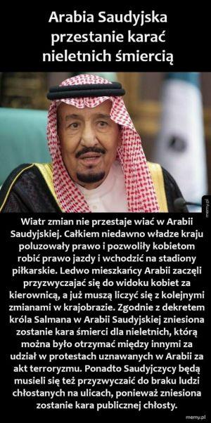 Zmiany w Arabii Saudyjskiej