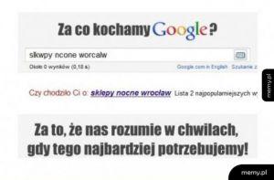 Za co kochamy google