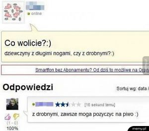 Co wolicie?