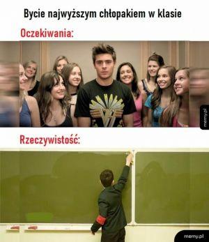 Najwyższy chłopak w klasie