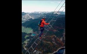 40 metrowa drabina w Austrii
