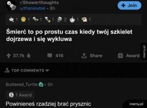 Myśli spod prysznica