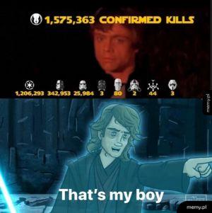 Luke nic nie wiedział o zniszczeniu Gwiazdy Śmierci