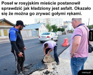 Asfalt w Rosji