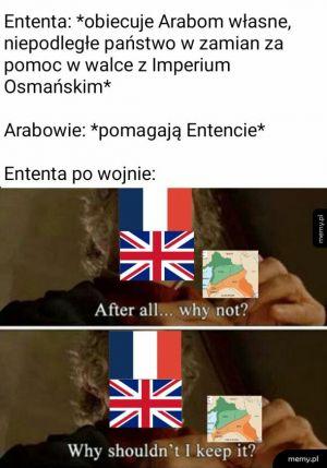 Umowy z Francuzami i Brytyjczykami takie są
