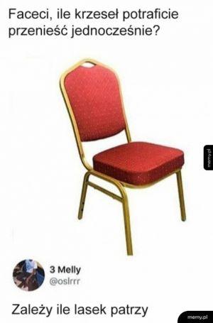 Noszenie krzeseł