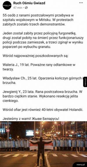 Łukaszenka przestań mi Białorusinów prześladować