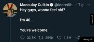 Feeling old