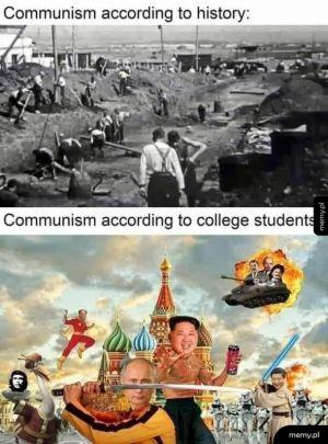 Komunizm wg historii i wg amerykańskich studentów