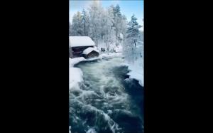 Laponia zimą