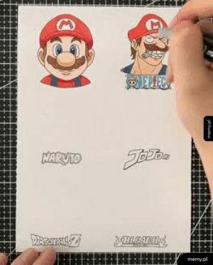 Mario w różnych stylach