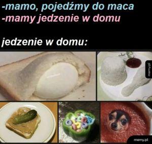 Jedzenie w domu ech