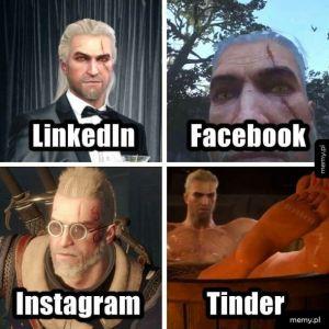 Geralt w różnych odsłonach