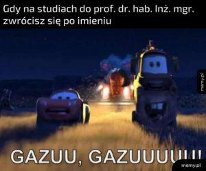Po imieniu do profesora