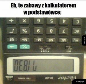 Zabawy z kalkulatorem
