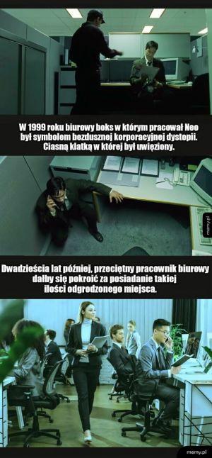 Matrix był optymistyczną i humanitarną symulacją
