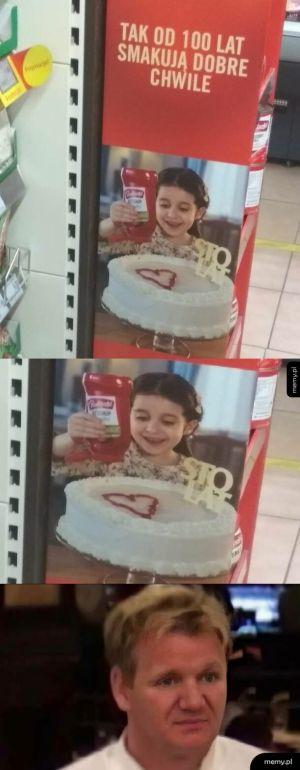 Tort z keczupem...mniam XD