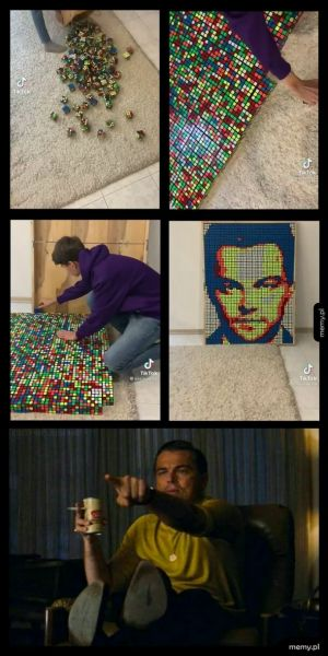 Tiktoker: układa mozaikę...