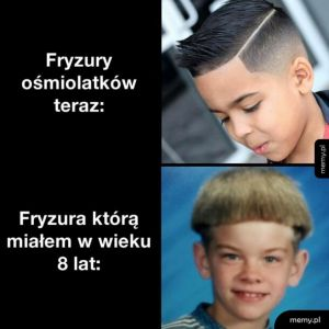 Fryzury ośmiolatków