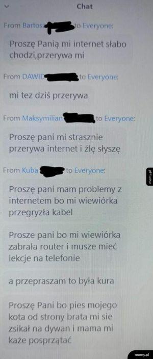 Internet przerywa
