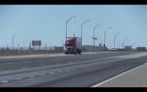 Ciężarówka vs wiatr