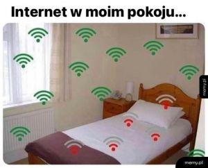 Internet w pokoju