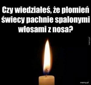 Płomień świecy