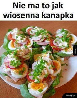 Wiosenna kanapka