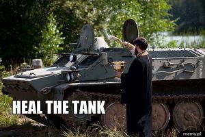 Priest healuje tanka