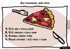 Jak prawidłowo jeść pizze
