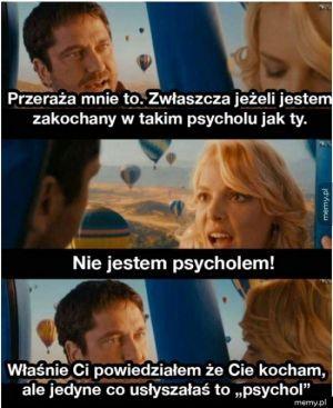 Nie jestem psycholem!