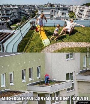 Mieszkanie z własnym ogrodem.