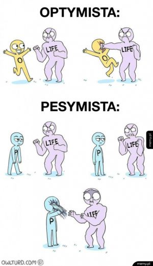 Optymista vs. pesymista