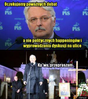 Szef MSZ Witold Waszczykowski o protestach