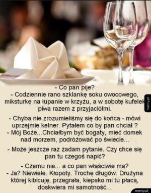 Dzień z życia kelnera