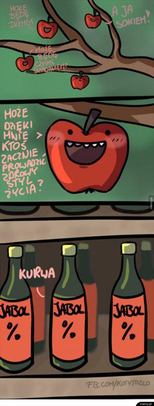 Smutna historia pewnych jabłuszek
