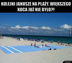 Janusze na plaży