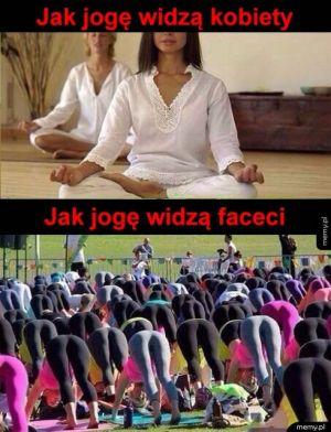 Jak jogę widzą kobiety, a jak mężczyźni